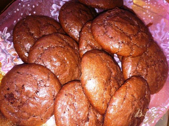 Фото приготовление рецепта: Шоколадно- ореховое печенье шаг №10