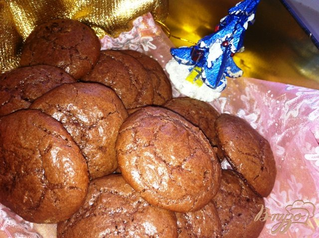 Фото приготовление рецепта: Шоколадно- ореховое печенье шаг №11