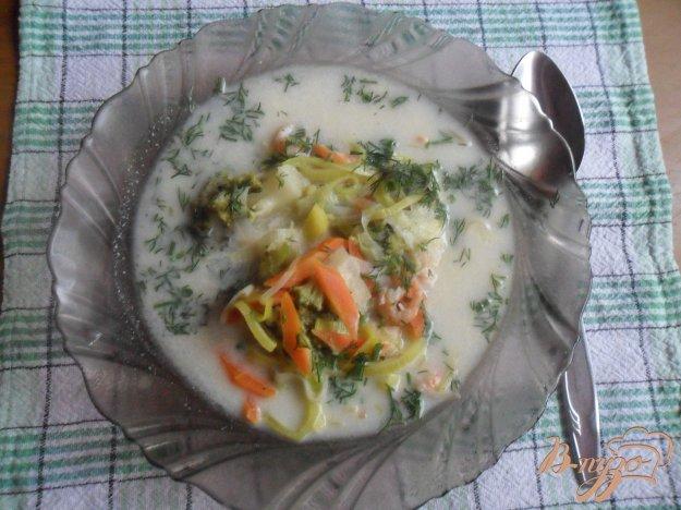 фото рецепта: Сырный суп с креветками