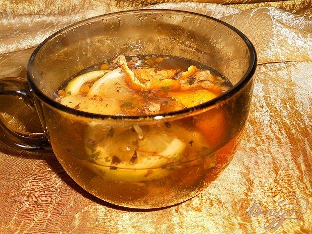 Фото приготовление рецепта: Имбирный глинтвейн шаг №6