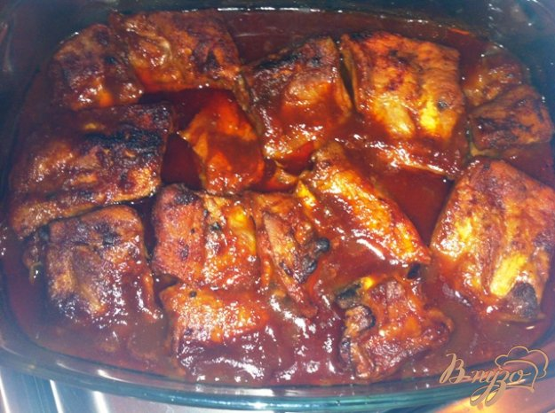Рецепт Запеченные свиные ребрышки