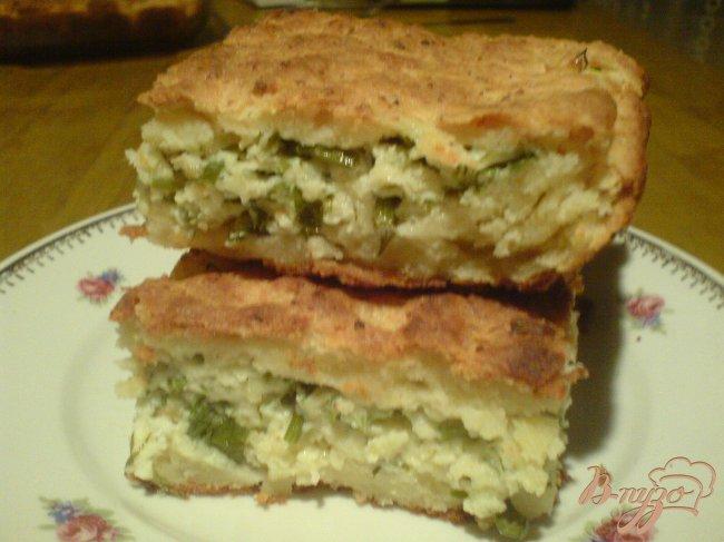 Фото приготовление рецепта: Сырный пирог на творожным тесте шаг №6