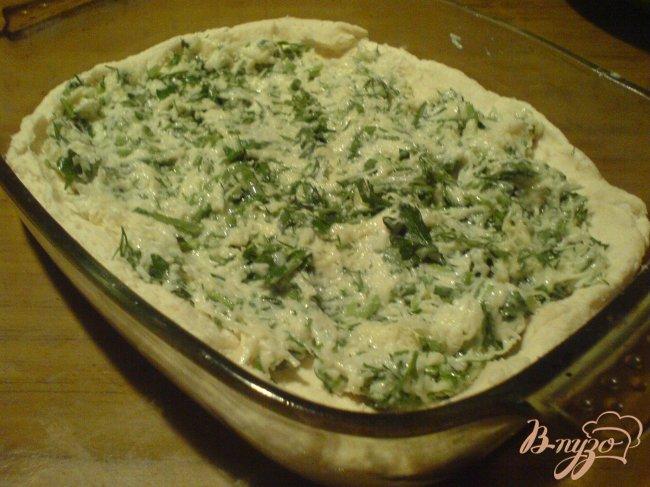 Фото приготовление рецепта: Сырный пирог на творожным тесте шаг №3