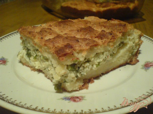 фото рецепта: Сырный пирог на творожным тесте
