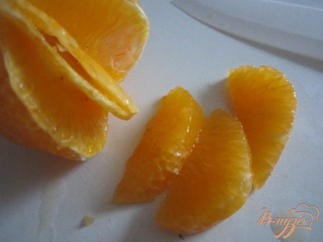Фото приготовление рецепта: Десерт с мандаринами шаг №3