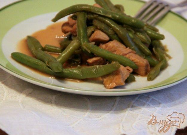 Рецепт Индейка-терияки со спаржевой фасолью