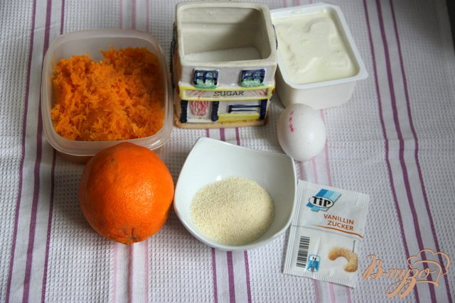 Фото приготовление рецепта: Ленивые сырники-запеканки  с тыквой и апельсином шаг №1