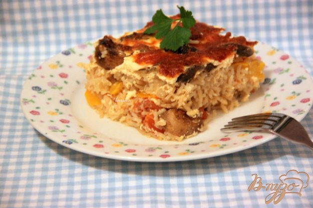 Рецепт Гювеч из риса и овощей