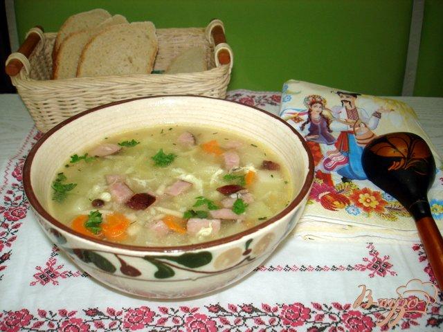Фото приготовление рецепта: Крестьянский суп *Затируха* шаг №9