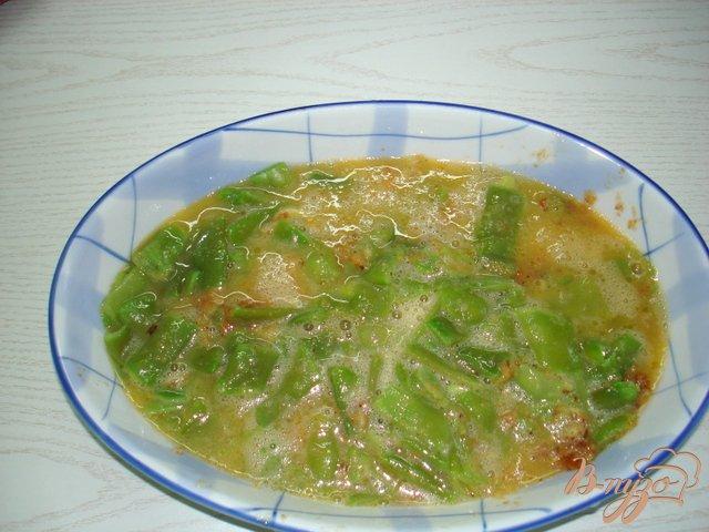 Фото приготовление рецепта: Запеканка из спаржевой фасоли шаг №5