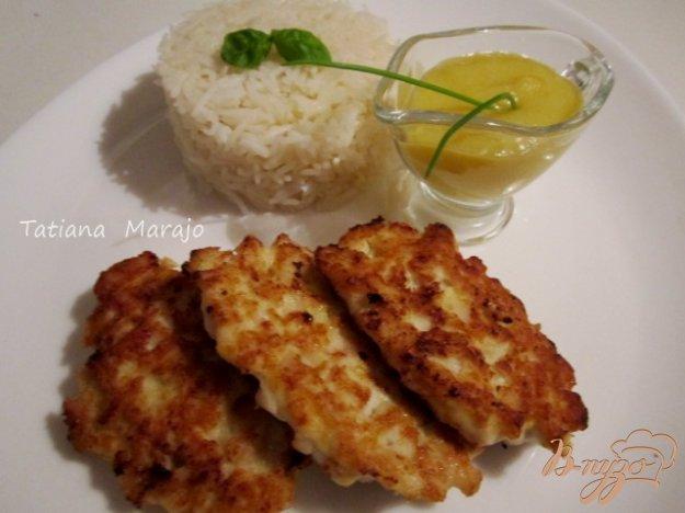 Рецепт Куриные рубленные котлетки с персиковым соусом