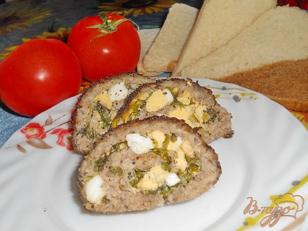Рецепт Мясной рулет из фарша