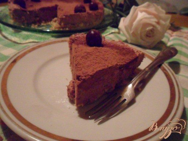 фото рецепта: Шоколадный чизкейк с коньяком