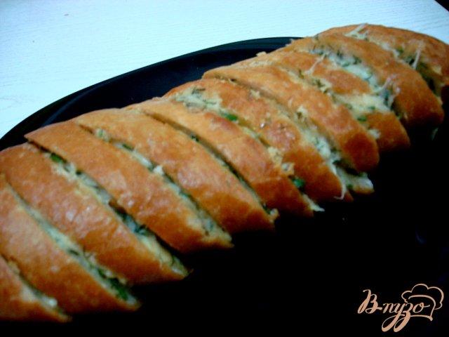 Фото приготовление рецепта: Багет фаршированный шаг №7