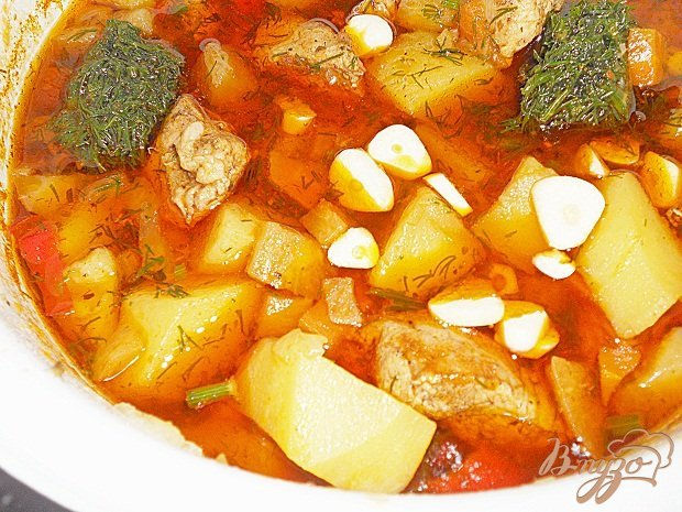 фото рецепта: Гуляш овощной для лагмана