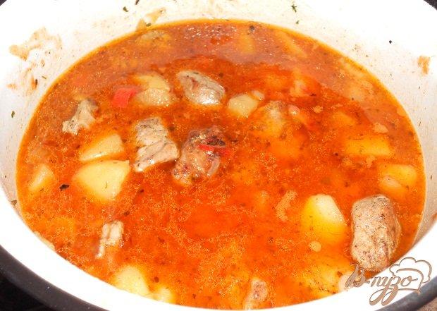 Фото приготовление рецепта: Гуляш овощной для лагмана шаг №8
