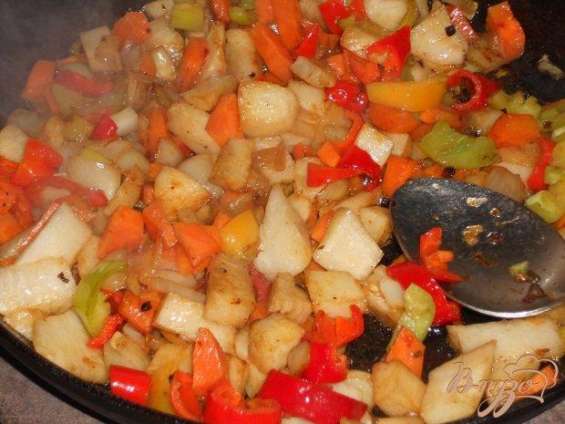 Фото приготовление рецепта: Гуляш овощной для лагмана шаг №6