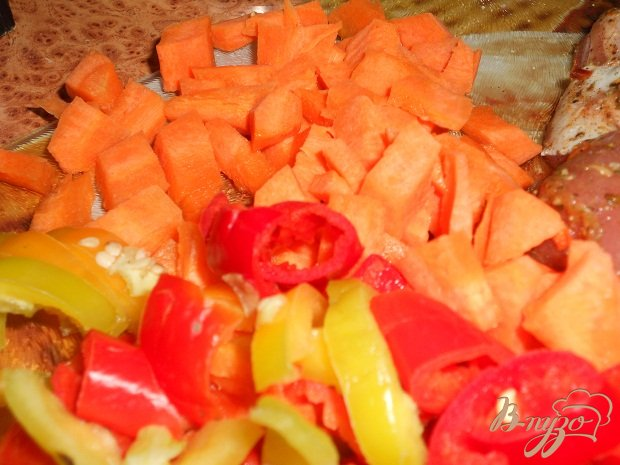 Фото приготовление рецепта: Гуляш овощной для лагмана шаг №4