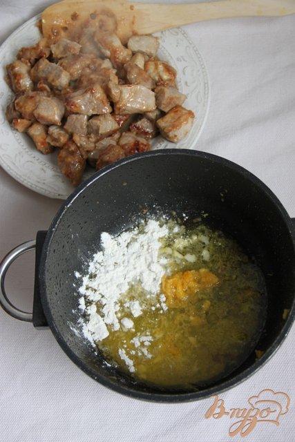 Свинина в соусе с клюквой