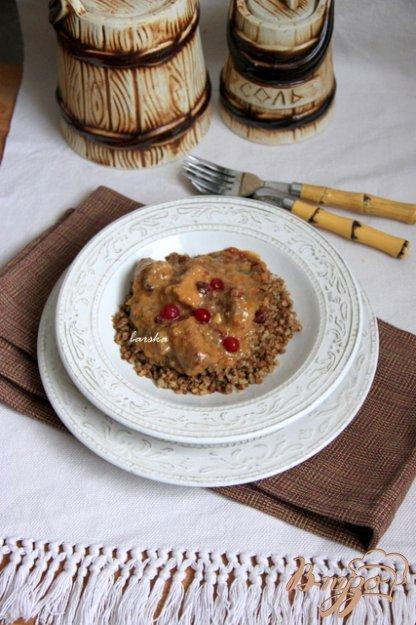 Рецепт Свинина в соусе с клюквой