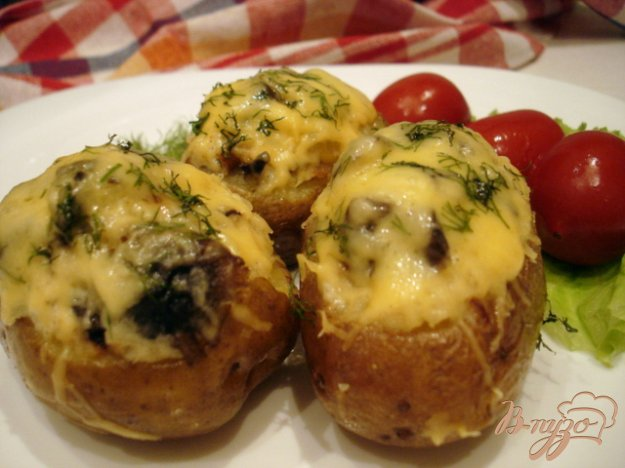 Рецепт Картофель фаршированный грибами