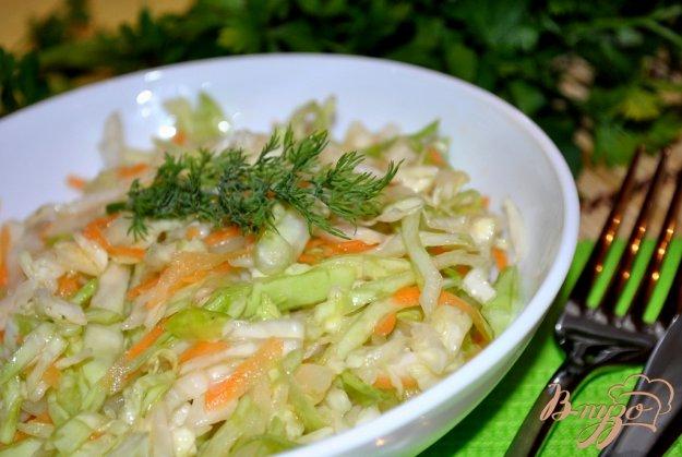 Рецепт Постный салат из капусты
