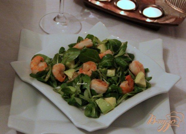Рецепт Cалат корн с авокадо и креветками