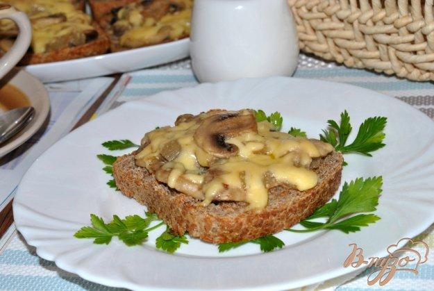 Рецепт Горячие бутерброды с грибами