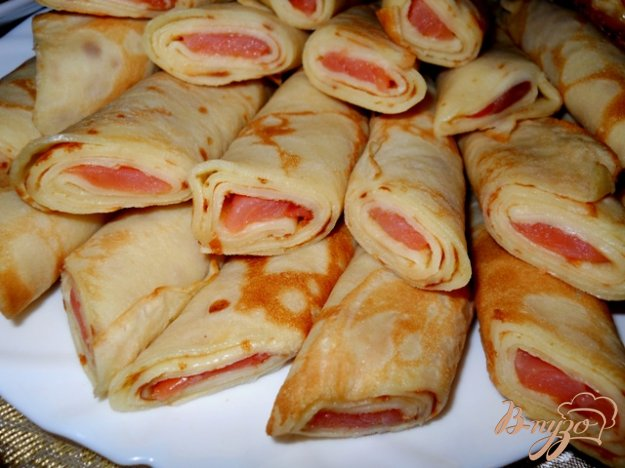 Рецепт Блины закусочные с красной рыбой