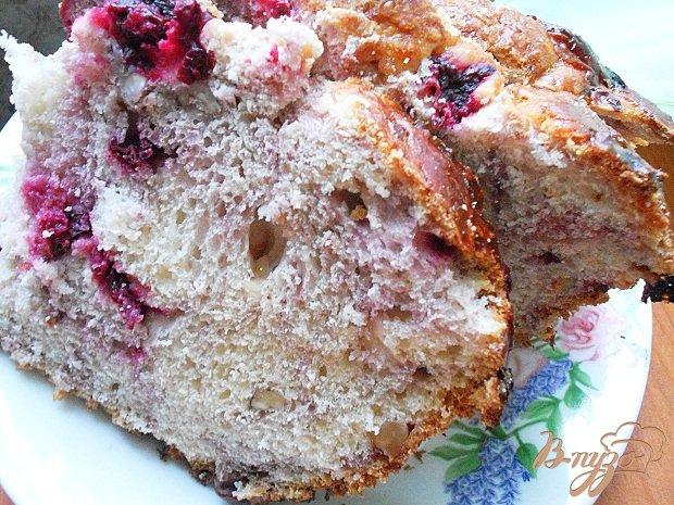 Рецепт Бриошь с вишней и орехом