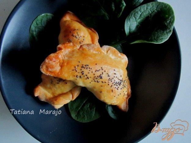 Рецепт Песочные пирожки с картофелем, сыром и ветчиной