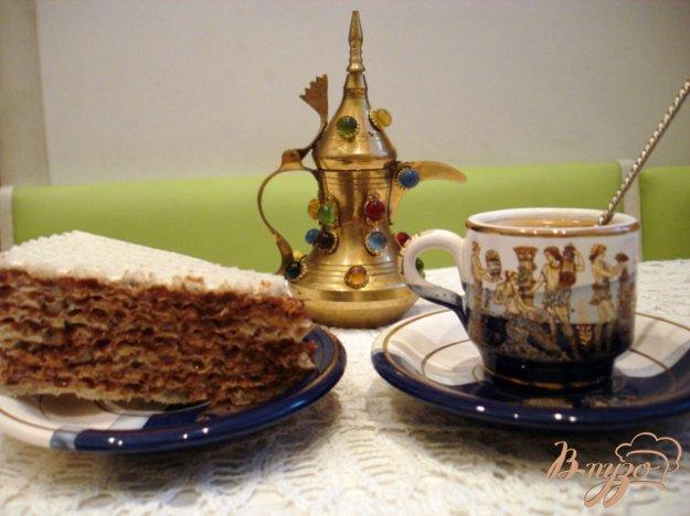 фото рецепта: Вафельный тортик с шоколадным кремом