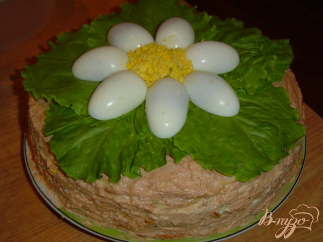 Фото приготовление рецепта: Блинный тортик