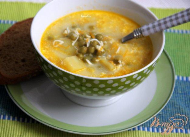 Рецепт Детский суп с зелёным горошком и яйцом
