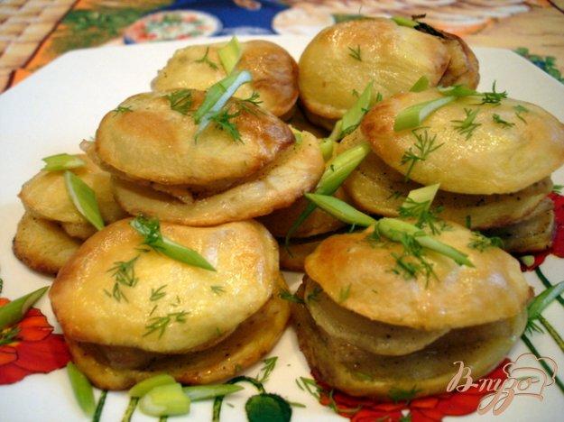 Рецепт Картофель запеченный с салом по-украински