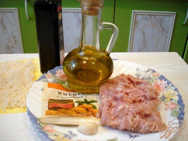Фото приготовление рецепта: Рисовые ёжики с мясом шаг №2