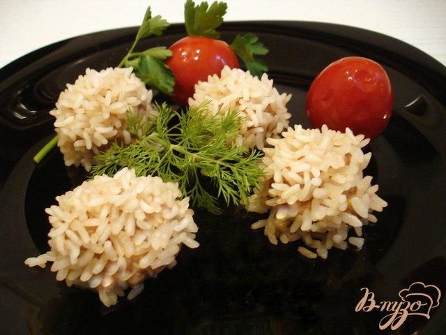 Фото приготовление рецепта: Рисовые ёжики с мясом шаг №5