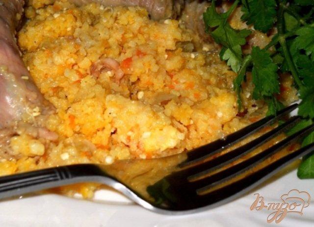 Фото приготовление рецепта: Каша из крупы с мясом и овощами шаг №6