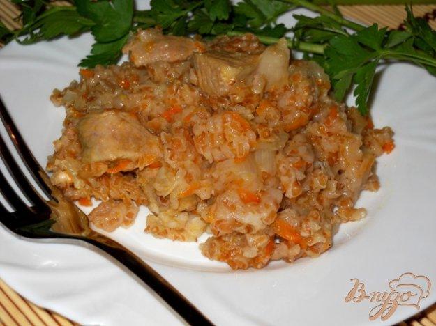 фото рецепта: Каша из крупы с мясом и овощами