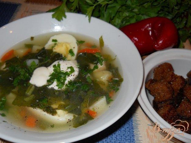 фото рецепта: Картофельный суп со шпинатом