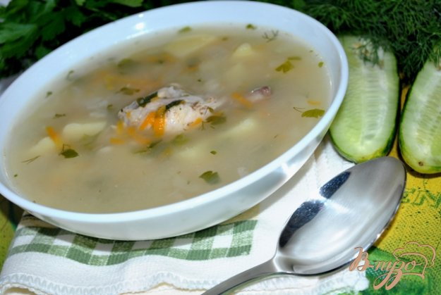 фото рецепта: Куриный суп с овсяными хлопьями