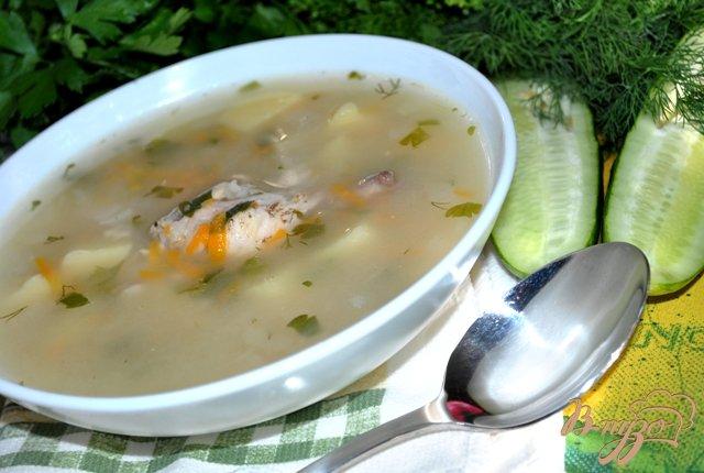 Фото приготовление рецепта: Куриный суп с овсяными хлопьями шаг №5