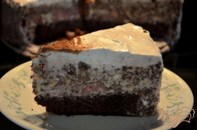 Фото приготовление рецепта: Торт мороженое,шоколадный с маршмэллоу и фундуком шаг №13