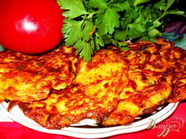 Рецепт Оладьи тыквенные с курицей