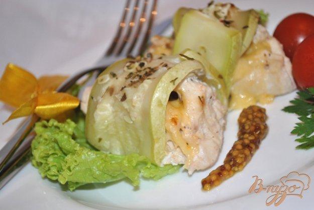 Рецепт Куриные рулетики с кабачком на пару