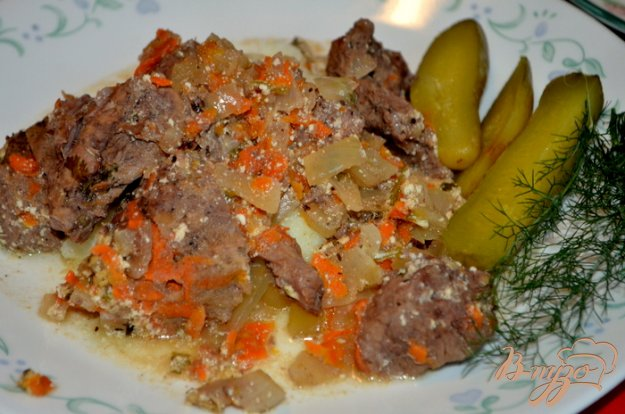 Рецепт Мясо тушенное по-суздальски