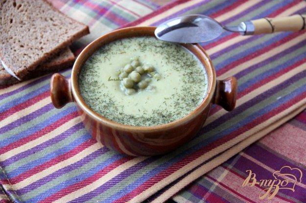 Рецепт Крем-суп из курицы и зелёного горошка