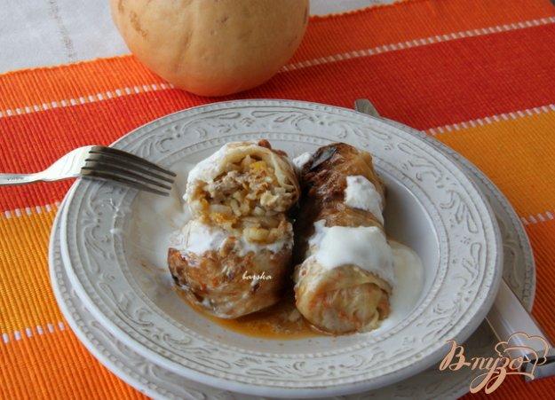 Рецепт Голубцы с тыквой, запечённые в соусе
