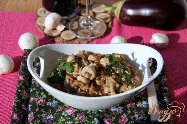 Рецепт Закуска из баклажан и шампиньонов