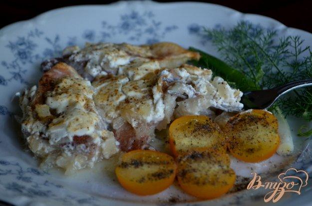 Рецепт Рыба запеченная с жареным хреном и луком